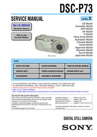 Service Manual Sony DSC-P73