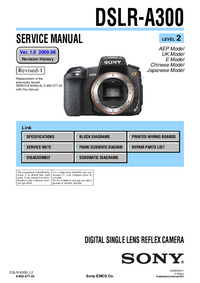 Manual de servicio Sony DSLR-A300