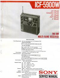 Manual de servicio Sony ICF-5900W