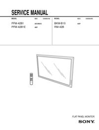 manuel de réparation Sony PFM-42B1E