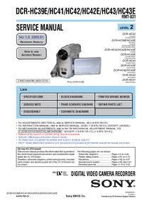 manuel de réparation Sony DCR-HC42E