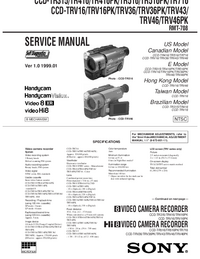 Manual de servicio Sony CCD-TRV43