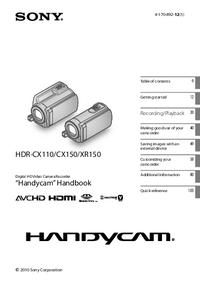 Bedienungsanleitung Sony HDR-CX150