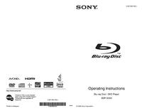 Manuel de l'utilisateur Sony BDP-S350