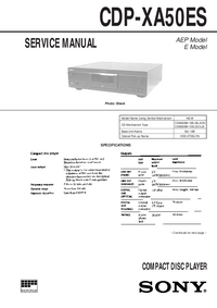 Manual de servicio Sony CDP-XA50ES