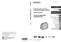 User Manual Sony DCR-DVD708