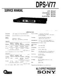 Service Manual Sony DPS-V77
