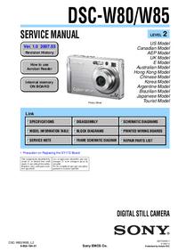 Manual de serviço Sony DSC-W85