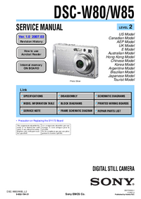 Serviceanleitung Sony DSC-W85
