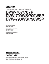Manual de servicio Sony DVW-709WS