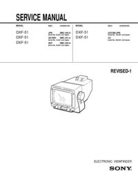 Manual de serviço Sony DXF-51
