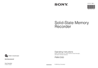 Manual del usuario Sony PMW-EX30
