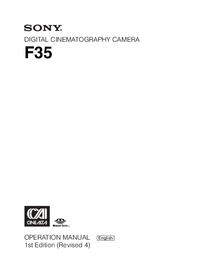 Manuale d'uso Sony F35