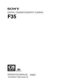 User Manual Sony F35