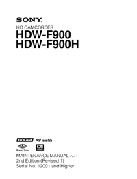 Service Manual Sony HDW-F900H