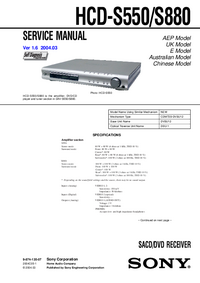 Service Manual Sony HCD-S550