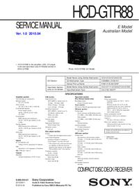Servicehandboek Sony HCD-GTR88