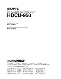 Руководство по техническому обслуживанию Sony HKCU-953