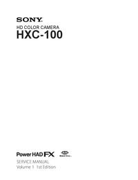 Manual de servicio Sony HXC-100