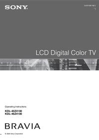Bedienungsanleitung Sony KDL-40Z4100
