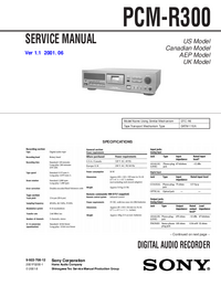 Service Manual Sony PCM-R300