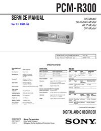 Manuale di servizio Sony PCM-R300