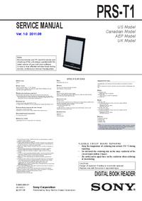 Manual de servicio Sony PRS-T1