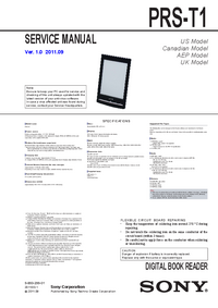 Руководство по техническому обслуживанию Sony PRS-T1