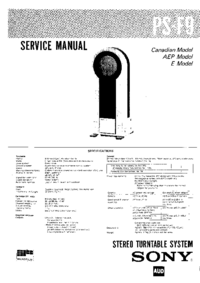 Service Manual Sony PS-F9