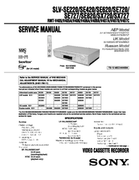 Service Manual Sony SLV-SE220