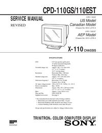 Руководство по техническому обслуживанию Sony CPD-110EST
