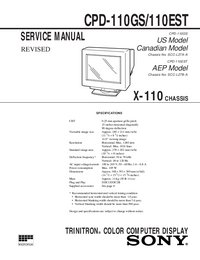 Servicehandboek Sony CPD-110GS