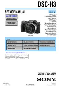 Instrukcja serwisowa Sony DSC-H3