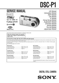 Instrukcja serwisowa Sony DSC-P1