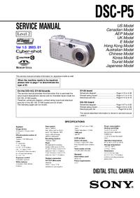 manuel de réparation Sony DSC-P5