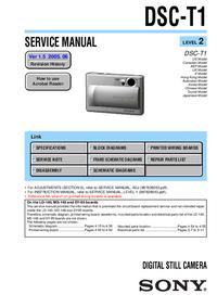 Service Manual Sony DSC-T1