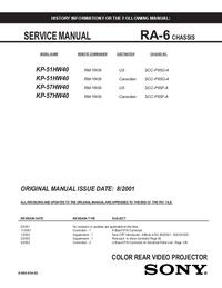 Service Manual Sony RA-6
