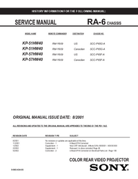 Manual de serviço Sony RA-6