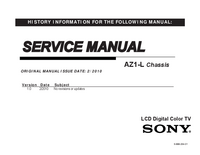 Manual de servicio Sony KDL-32EX306
