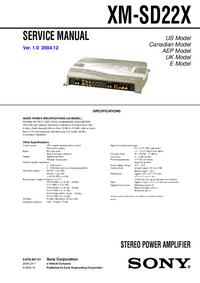Manual de servicio Sony XM-SD22X