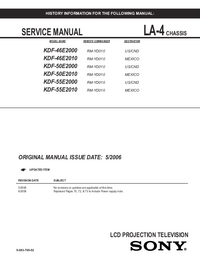 Instrukcja serwisowa Sony KDF-50E2010