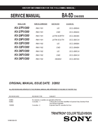 Manual de servicio Sony KV-36FV300