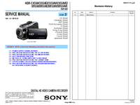 Manual de servicio Sony HDR-CX550V