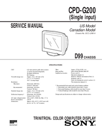Serviceanleitung Sony D99