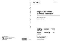 Manual del usuario Sony HVR-Z7E