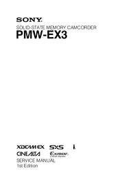 Manuale di servizio Sony PMW-EX3