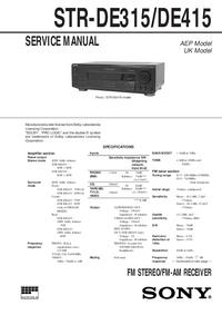 Instrukcja serwisowa Sony STR-DE415