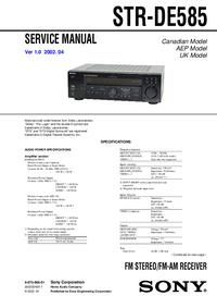 Manual de servicio Sony STR-DE585