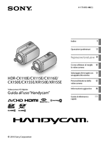 User Manual Sony HDR-XR155E