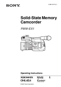 User Manual Sony PMW-EX1